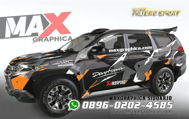 sticker Pajero-maxgraphica cutting sticker sidoarjo